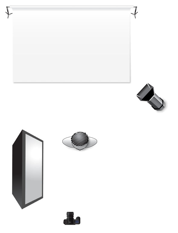 head shot light diagram