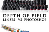 Camera depth of field VS Photoshop Blurring.